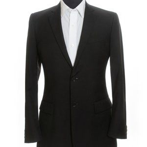 Burberry Made in Italy Black Wool Blazer 38S